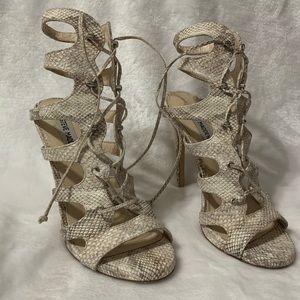 Steve Madden Snakeskin Lace-up stiletto heels 7.5